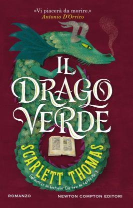 La bella copertiona del libro di Scarlett Thomas. Il drago verde